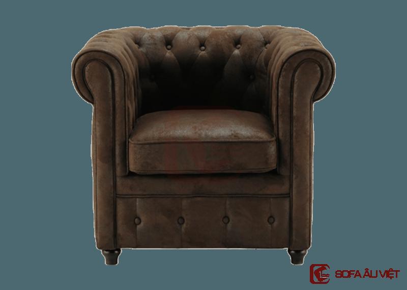 Ghế sofa đơn màu nâu SFD 001