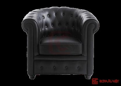 Ghế sofa đơn màu đen SFD-001