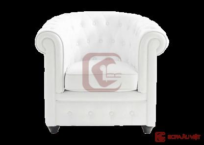 Ghế sofa đơn màu trắng SFD-001