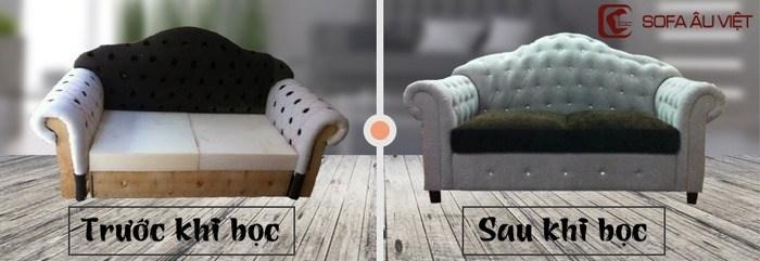 Ghế Sofa Trước Và Sau Khi Bọc Lại Ghế Sofa Tại Sofa Âu Việt