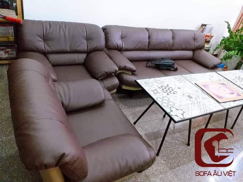 Ghế Sofa Chất Liệu Giả Da Bàn Giao Cho Anh Thiên
