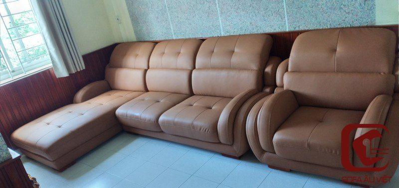 Ghế sofa da công nghiệp sau khi bọc lại